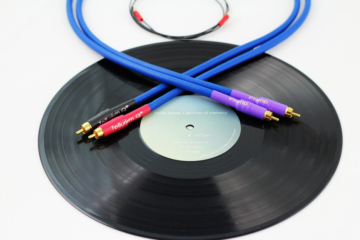 Blue Tone Arm (RCA-RCA) Cable
